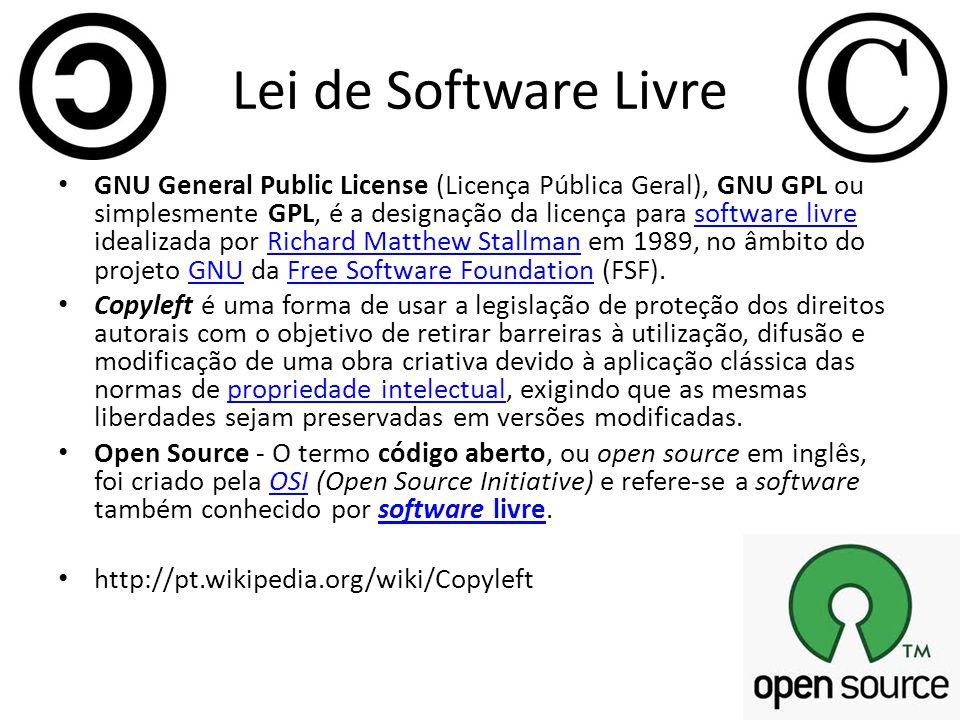 História do Software Livre 1984 Richard M.