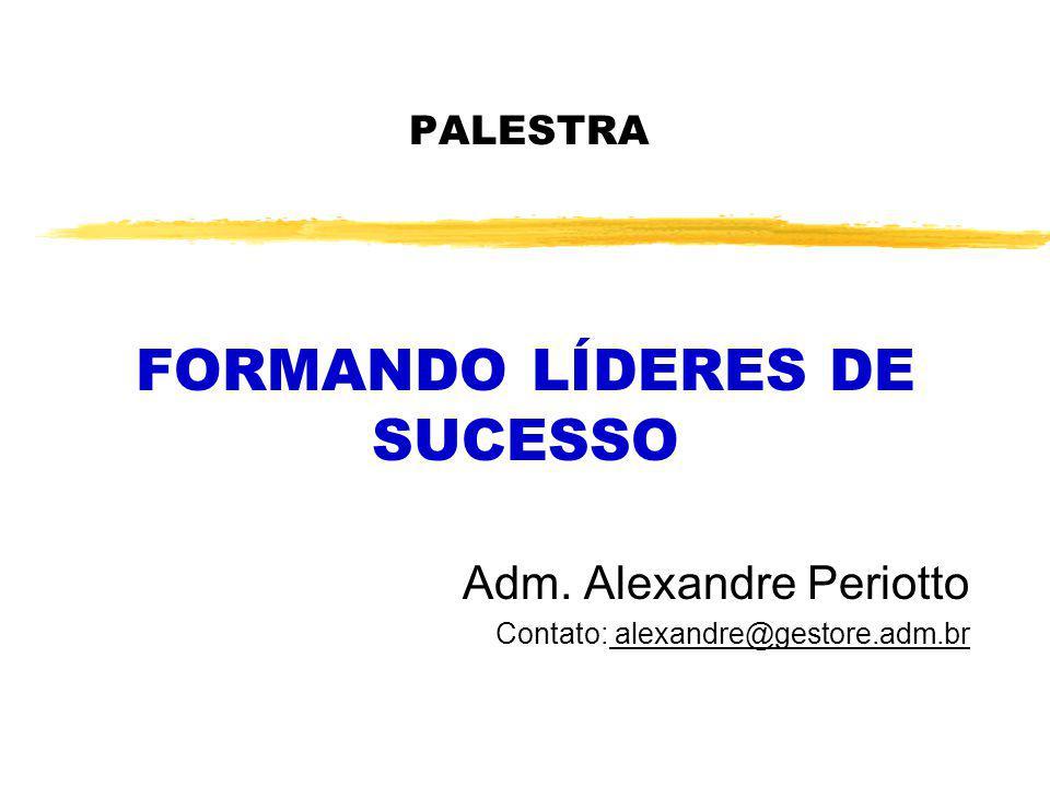 PALESTRA FORMANDO LÍDERES DE SUCESSO Adm. Alexandre Periotto Contato: alexandre@gestore.adm.br
