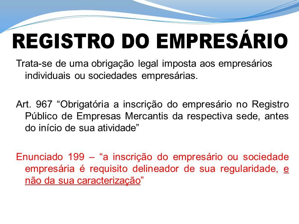 Formalidades legais para inscrição: Art.