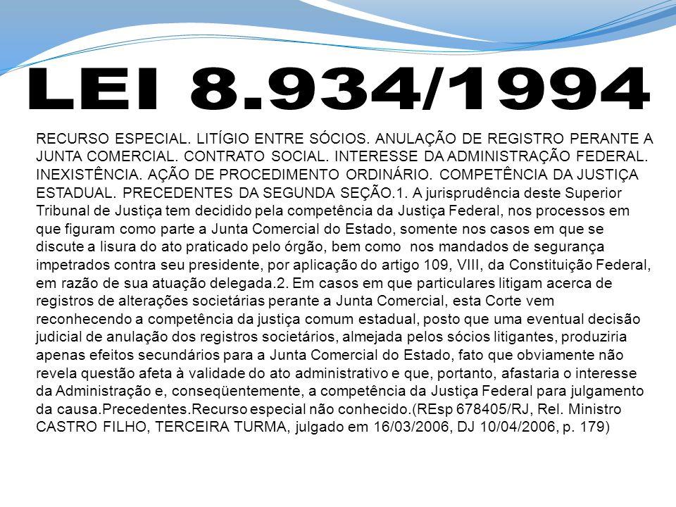 RECURSO ESPECIAL. LITÍGIO ENTRE SÓCIOS. ANULAÇÃO DE REGISTRO PERANTE A JUNTA COMERCIAL.