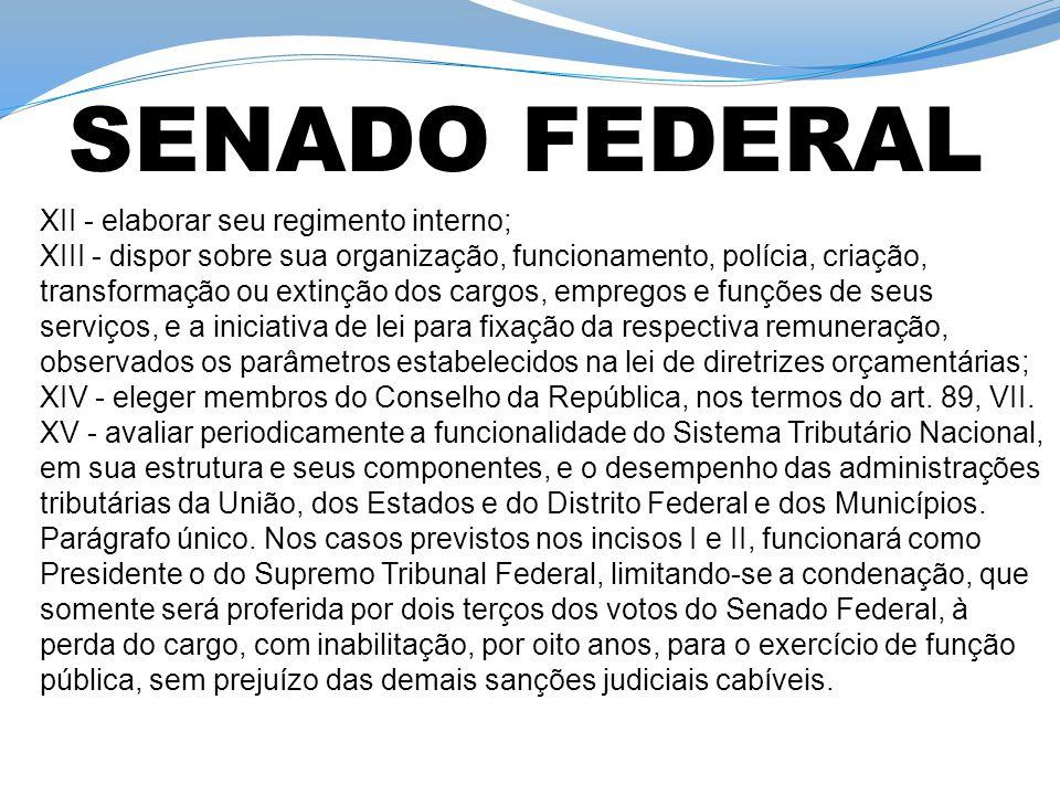 Art. 57 et seq da CF. Perda do Mandado e imunidade parlamentar: art. 53 et seq da CF