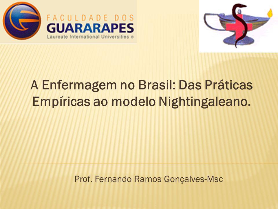 A Enfermagem no Brasil: Das Práticas Empíricas ao modelo Nightingaleano. Prof. Fernando Ramos Gonçalves-Msc