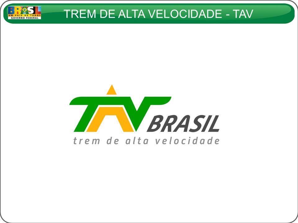 TREM DE ALTA VELOCIDADE - TAV TEMPOS DE VIAGEM E VELOCIDADES MÉDIAS (Trem com velocidade máxima operacional de 300 km/h)