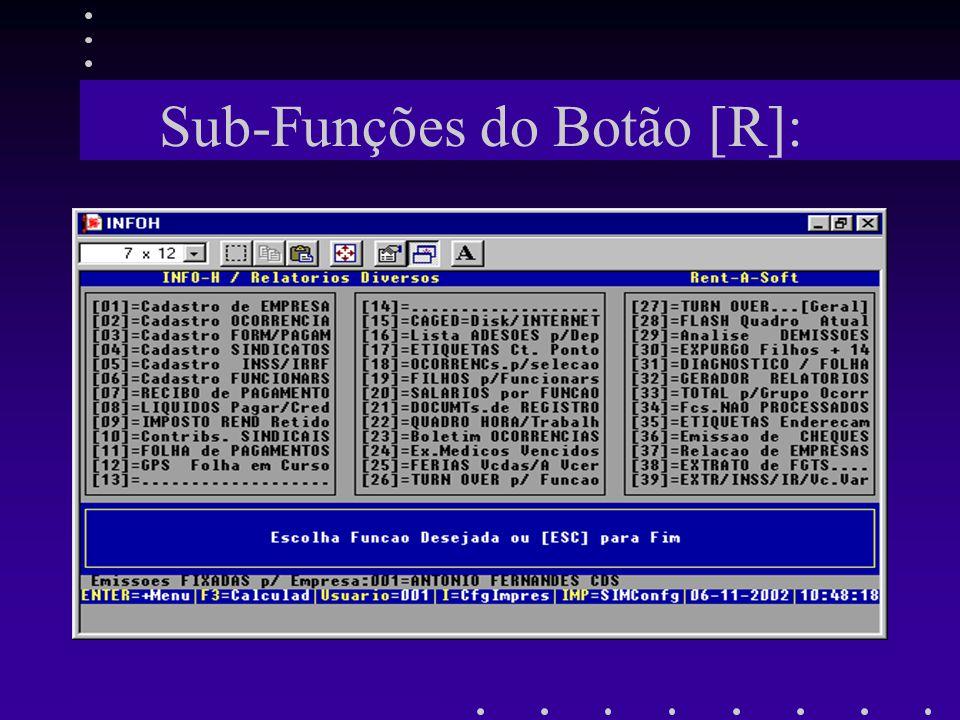 Sub-Funções do Botão [R]:
