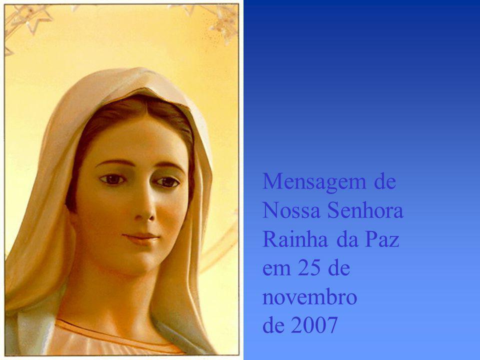 Marija durante aparição de Nossa Senhora