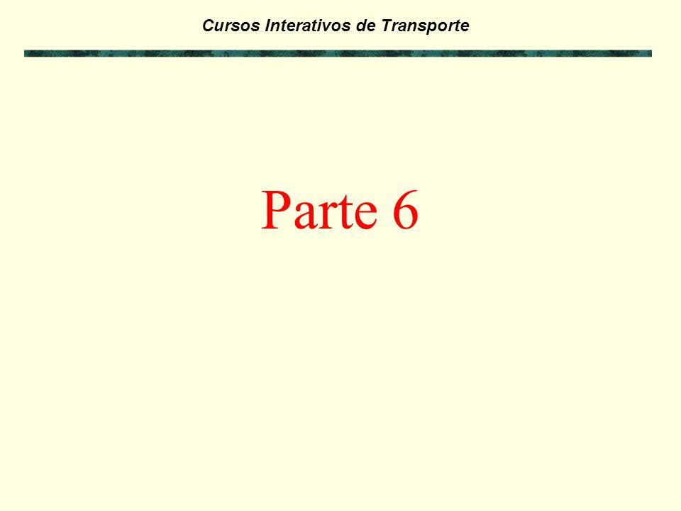 Cursos Interativos de Transporte Exercícios da Parte 5: - Antes de passar para a Parte 6 deste curso, faça os exercícios referentes a Parte 5 para ver