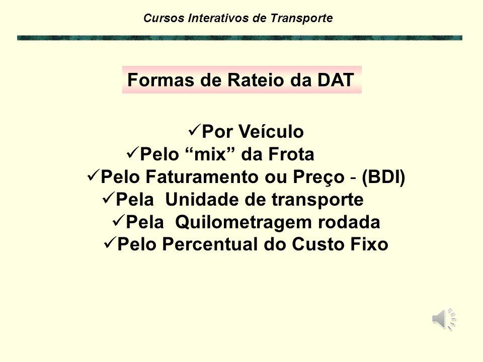 Cursos Interativos de Transporte Custo Fixo: Despesas Administrativas e de Terminais – D.A.T.