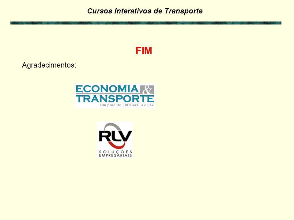 Cursos Interativos de Transporte Exercícios da Parte 7: - Faça os exercícios referentes a Parte 7 para verificar seus conhecimentos e concluir este cu