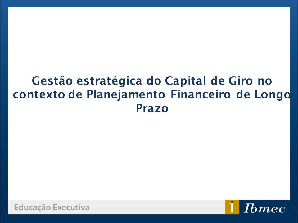 Gestão estratégica do Capital de Giro no contexto de Planejamento Financeiro de Longo Prazo