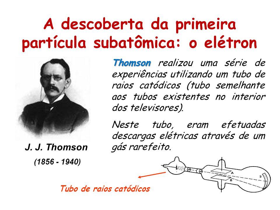 A descoberta da primeira partícula subatômica: o elétron J.