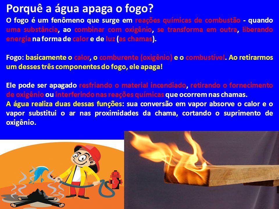 Porquê a água apaga o fogo? O fogo é um fenômeno que surge em reações químicas de combustão - quando uma substância, ao combinar com oxigênio, se tran