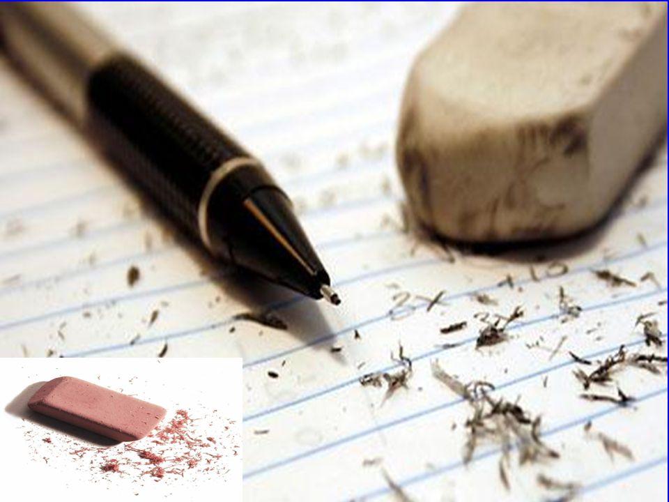 Porquê a borracha apaga o lápis? Quando escrevemos sobre um papel, o lápis ou lapiseira depositam uma pequena quantidade de grafite sobre o papel em q