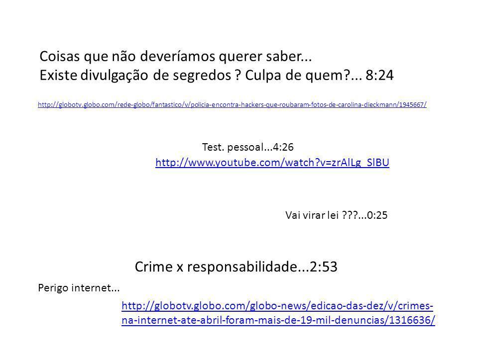 http://globotv.globo.com/rede-globo/fantastico/v/policia-encontra-hackers-que-roubaram-fotos-de-carolina-dieckmann/1945667/ Coisas que não deveríamos