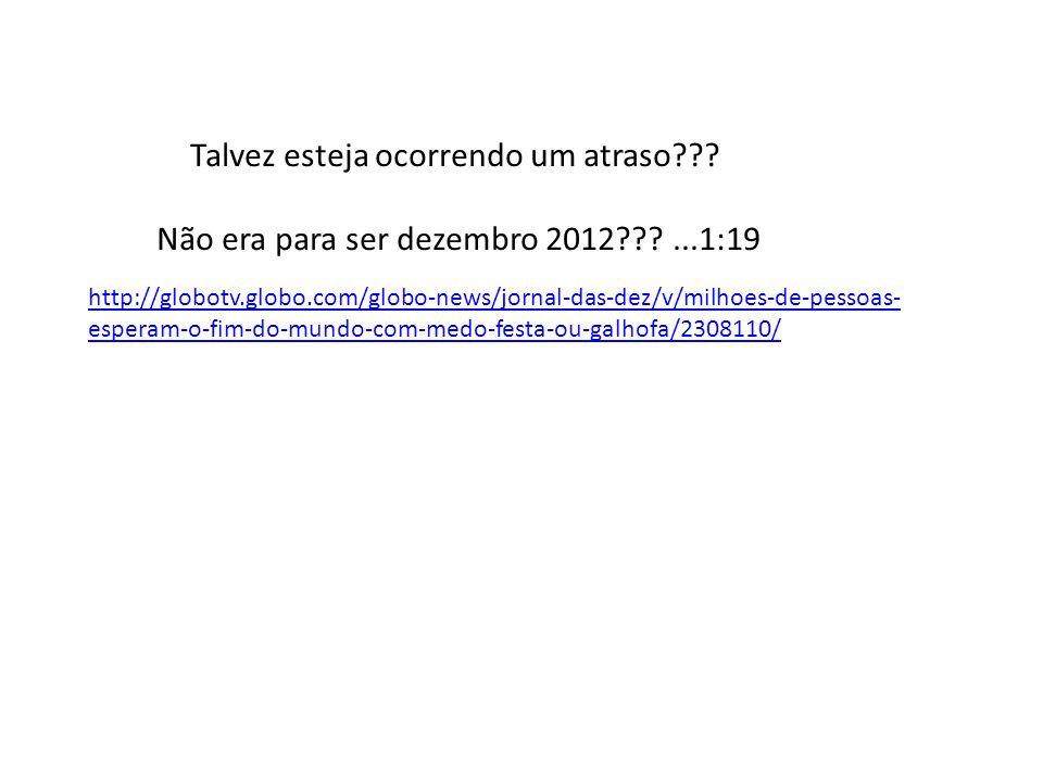 http://www.youtube.com/user/tvadvertenciafinal?v=rCC8gtyCBiM Além dos fenômenos naturais....Seria o fim...