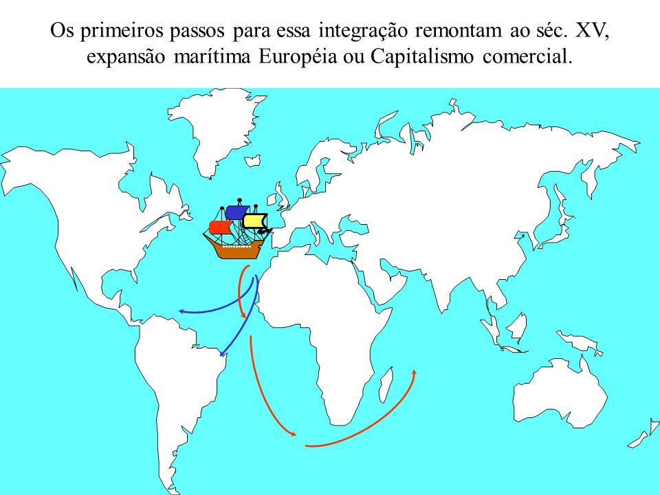 Os primeiros passos para essa integração remontam ao séc. XV, expansão marítima Européia ou Capitalismo comercial.