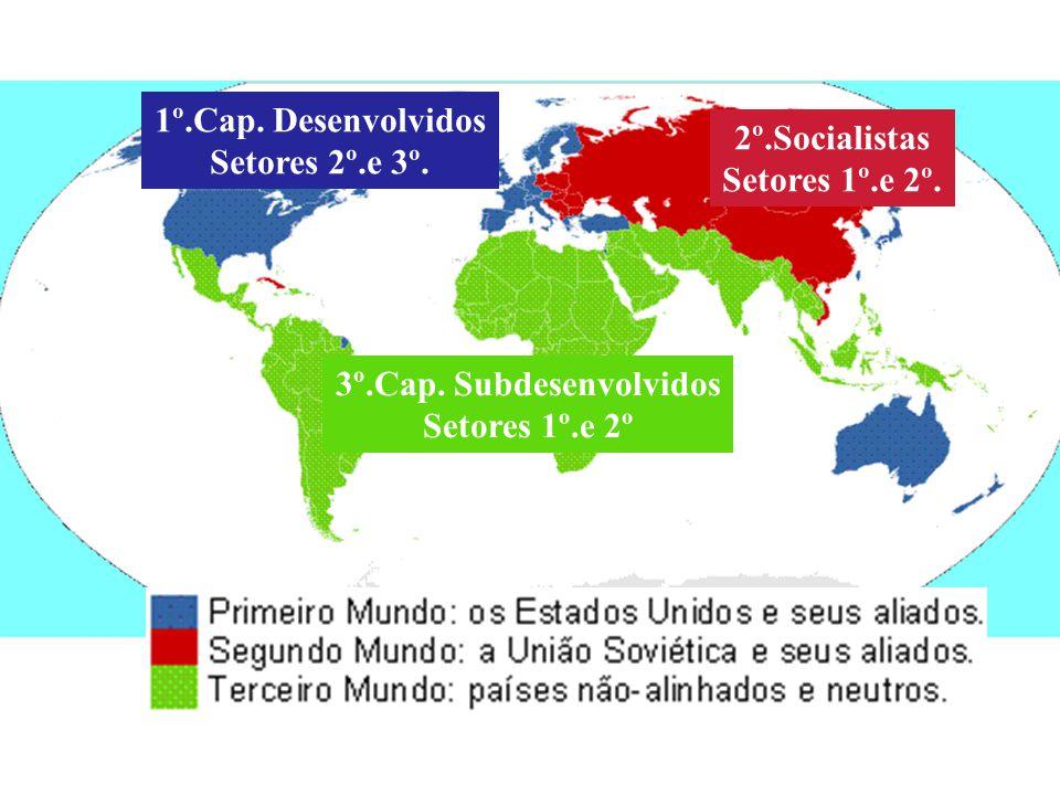 1º.Cap. Desenvolvidos Setores 2º.e 3º. 2º.Socialistas Setores 1º.e 2º. 3º.Cap. Subdesenvolvidos Setores 1º.e 2º