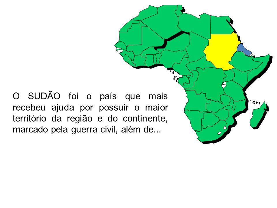 O SUDÃO foi o país que mais recebeu ajuda por possuir o maior território da região e do continente, marcado pela guerra civil, além de...