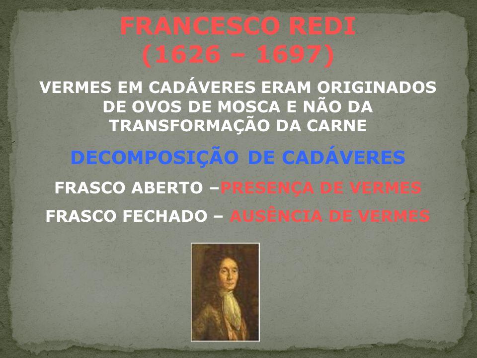 BIOGÊNESE SURGIMENTO DE SERES VIVOS POR MECANISMOS REPRODUTIVOS
