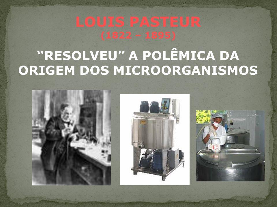 NEEDHAM x SPALLANZANI POLÊMICA DA ORIGEM DOS MICROORGANISMOS CONFEITEIRO NICHOLAS APPERT (1749 – 1841) INICIOU VENDA DE PRODUTOS ENLATADOS