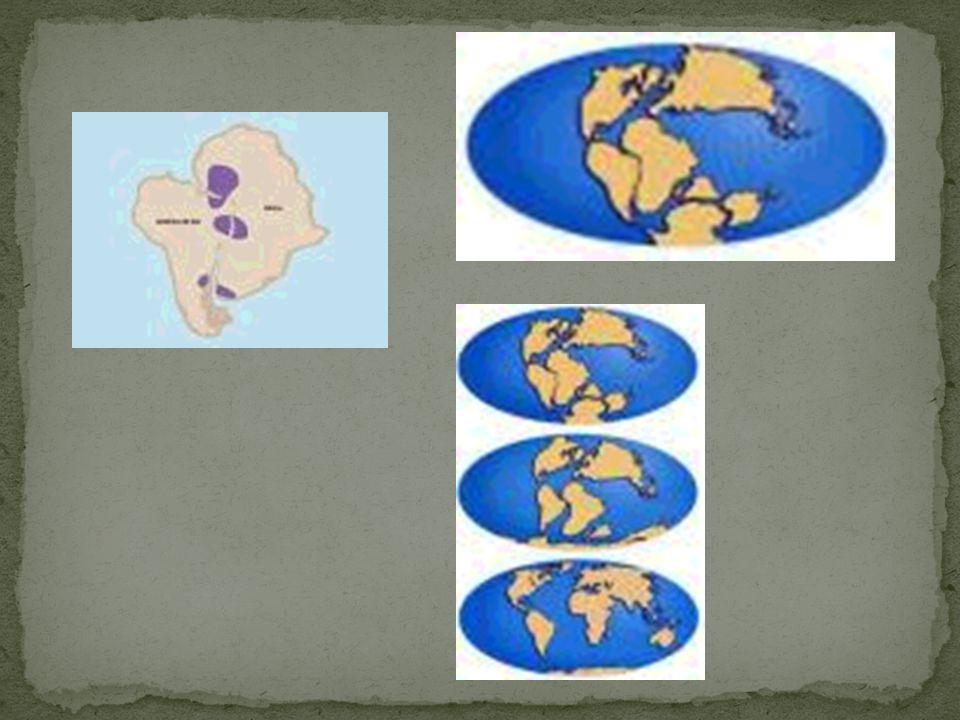 MOVIMENTAÇÃO DOS CONTINENTES DECORRENTE DO DESLOCAMENTO DE PLACAS TECTÔNICAS. DERIVA CONTINENTAL EXISTE UMA FENDA NO OCEANO ATLÂNTICO, ONDE OCORRE EXT