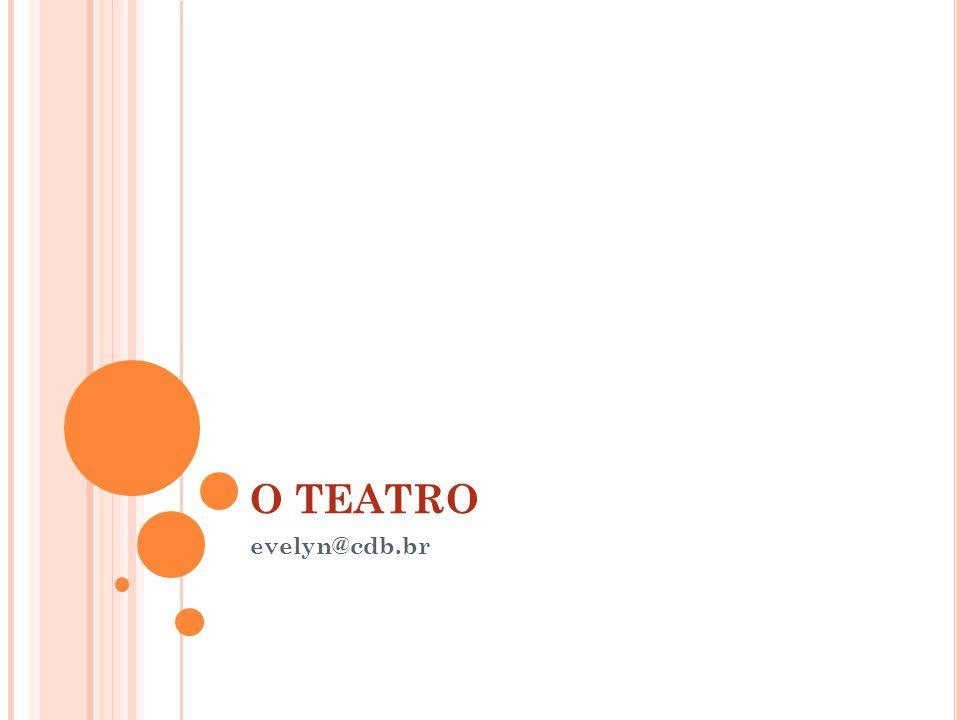 O Nascimento do teatro Foi com os gregos, no final do século VI a.