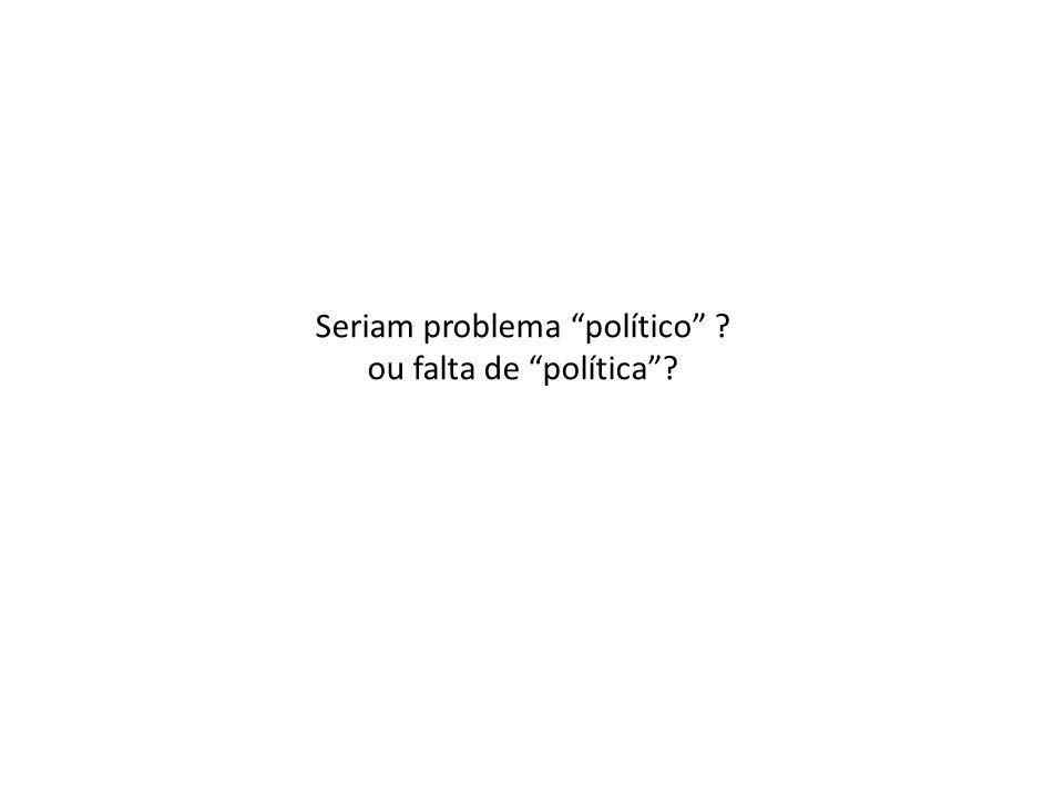 Seriam problema político ? ou falta de política?