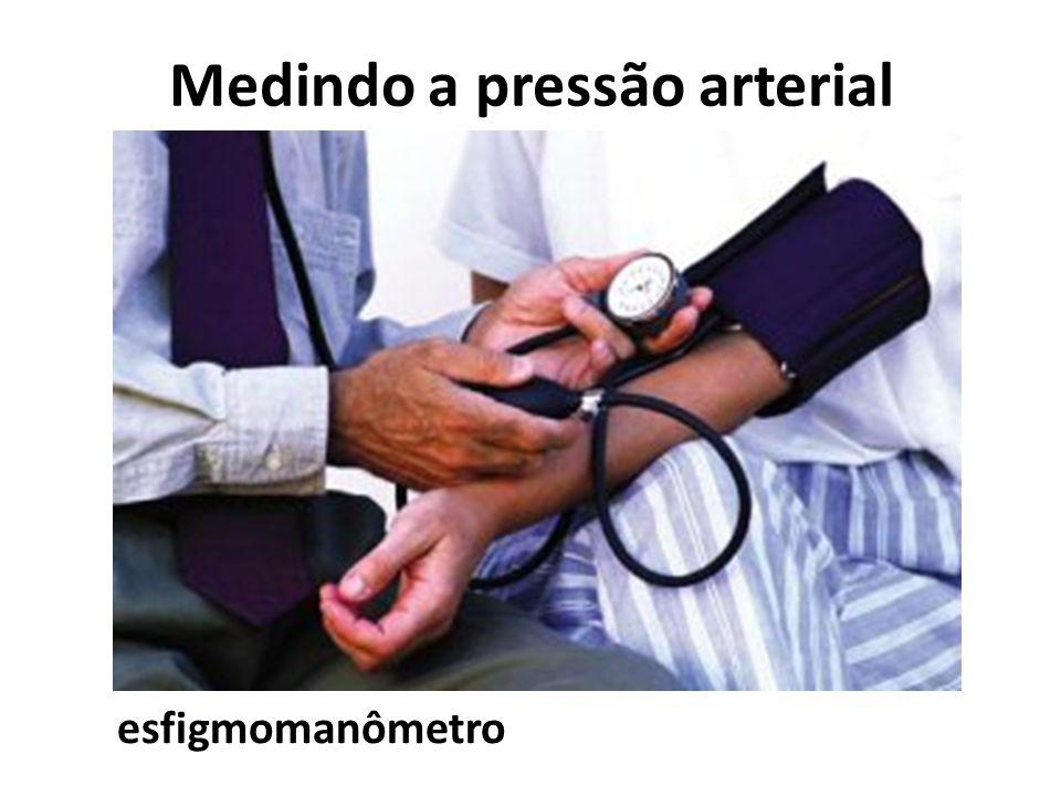 Medindo a pressão arterial esfigmomanômetro
