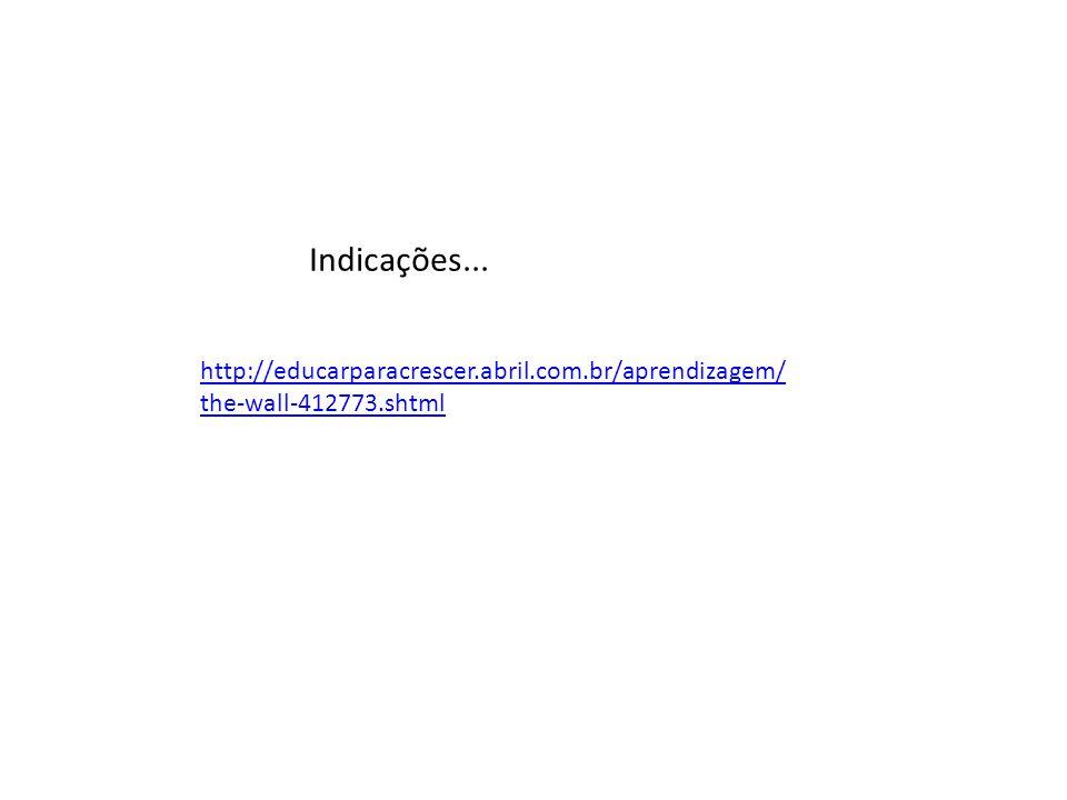 http://educarparacrescer.abril.com.br/aprendizagem/ the-wall-412773.shtml Indicações...