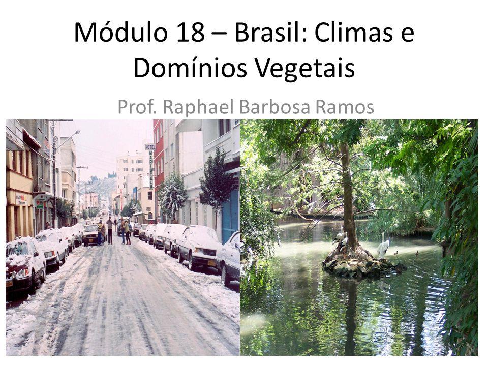 Módulo 18 – Brasil: Climas e Domínios Vegetais Prof. Raphael Barbosa Ramos