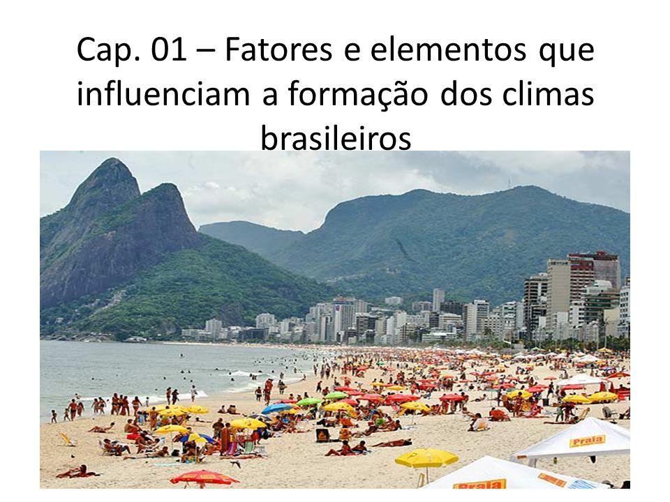 O Fator Latitude O território brasileiro localiza-se quase inteiramente na zona de baixa latitude (5°1619 de latitude Norte até os 33°4509) de Latitude Sul.