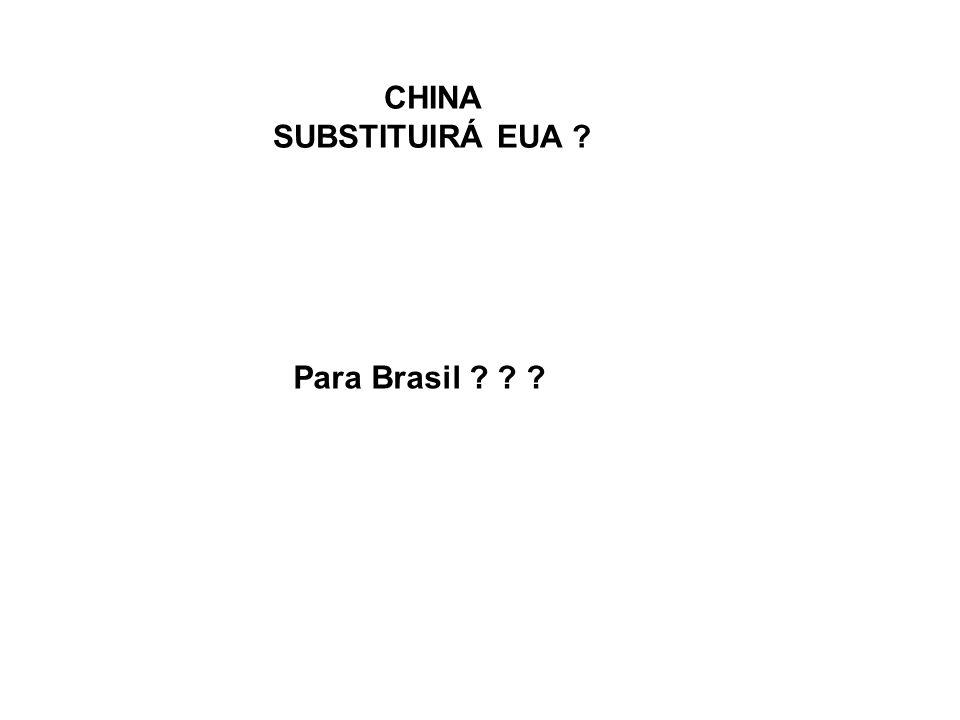 CHINA SUBSTITUIRÁ EUA ? Para Brasil ? ? ?