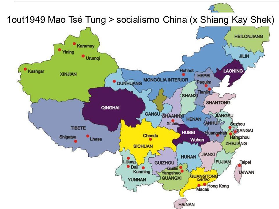 USA URSS A China torna-se socialista e EUA iniciam investimentos no Japão...