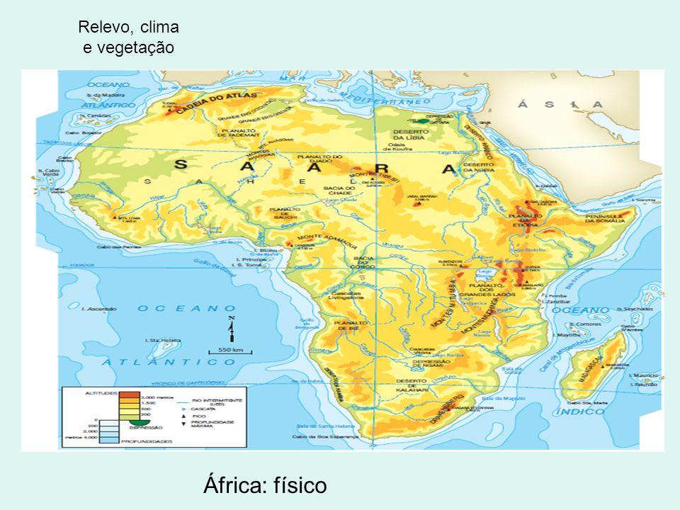 Clima Cortada pelos dois trópicos; Predomínio de climas quentes; Variedades de chuvas em algumas regiões chuvas abundantes, em outras chuvas escassas;