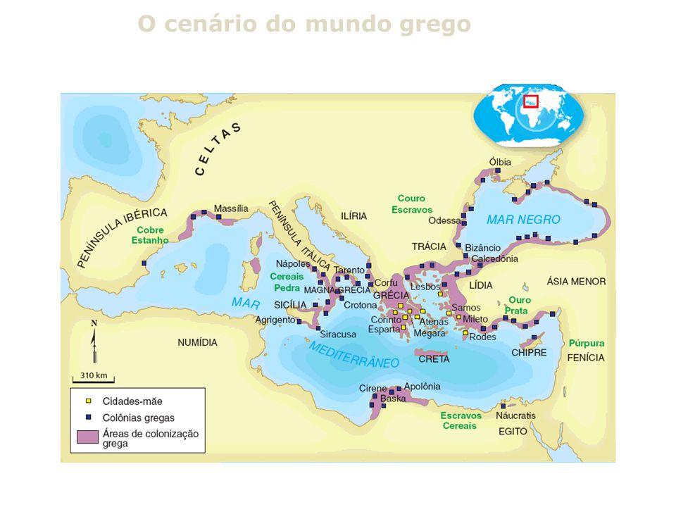 O cenário do mundo grego
