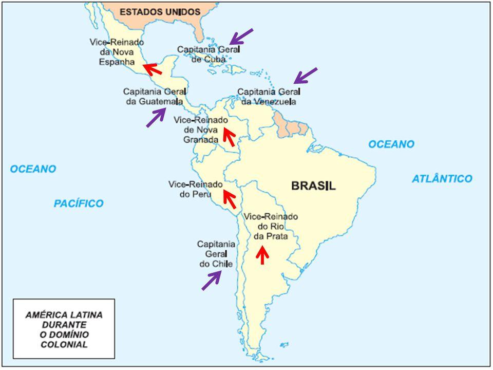 1817 - San Martín 1821 - independência do Peru Retorno ao domínio espanhol (Bolívar nova independência) vitória definitiva - 1824 liderada por Antonio José de Sucre.