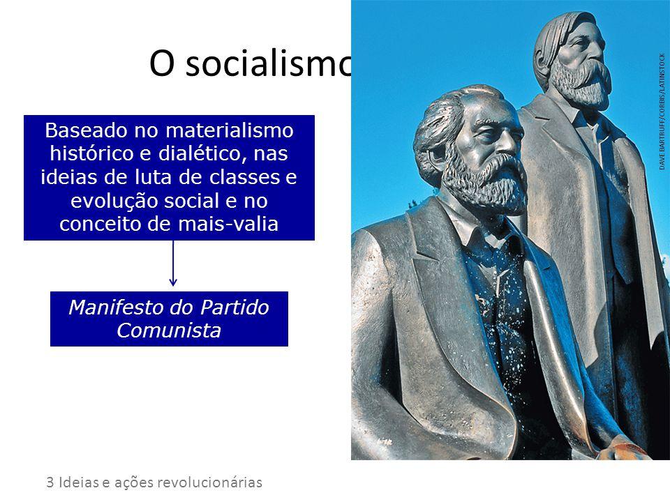 O socialismo científico Baseado no materialismo histórico e dialético, nas ideias de luta de classes e evolução social e no conceito de mais-valia Man