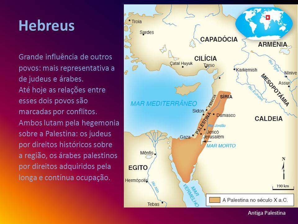 Hebreus Grande influência de outros povos: mais representativa a de judeus e árabes.