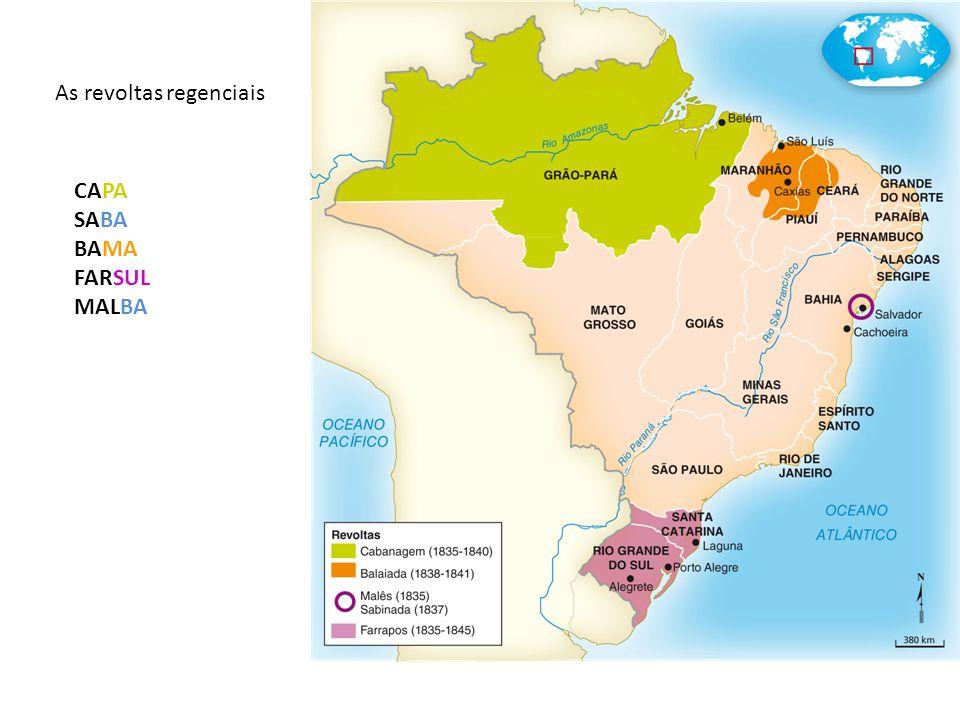 As revoltas regenciais CAPA SABA BAMA FARSUL MALBA