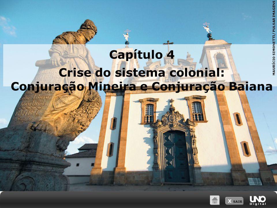 X SAIR Capítulo 4 Crise do sistema colonial: Conjuração Mineira e Conjuração Baiana MAURÍCIO SIMONETTI/ PULSAR IMAGENS