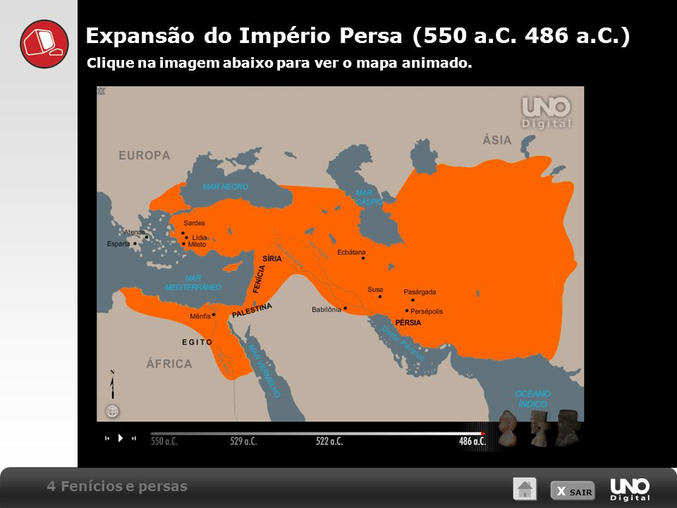 X SAIR Expansão do Império Persa (550 a.C.