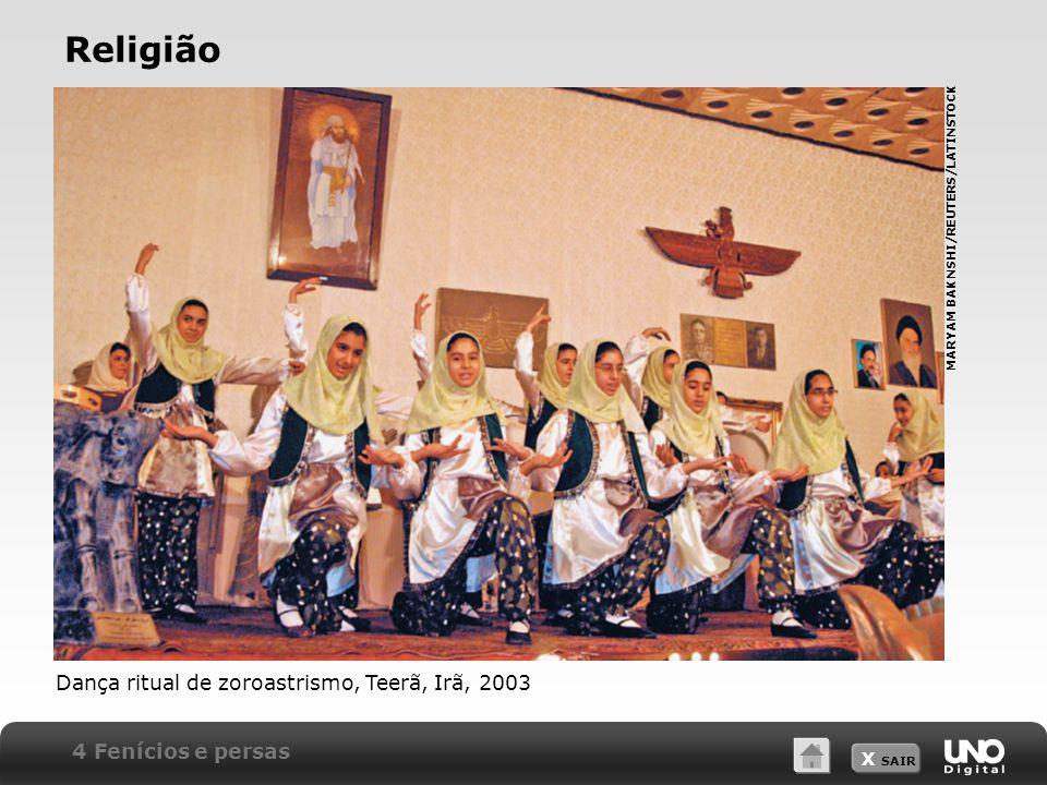 X SAIR Religião 4 Fenícios e persas Dança ritual de zoroastrismo, Teerã, Irã, 2003 MARYAM BAKNSHI/REUTERS/LATINSTOCK
