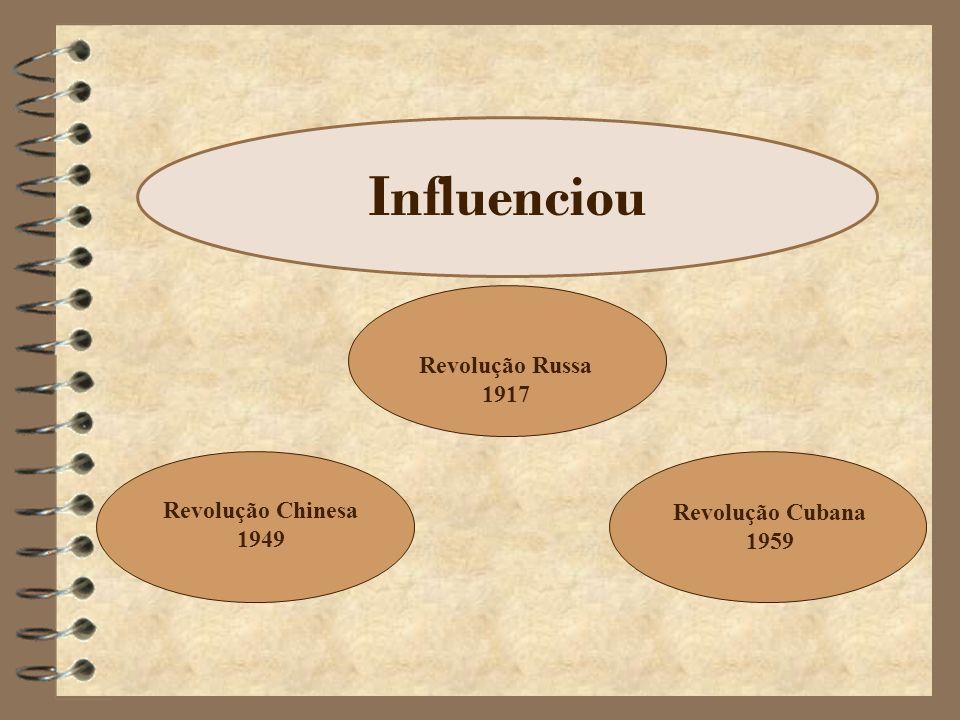 Influenciou Revolução Russa 1917 Revolução Chinesa 1949 Revolução Cubana 1959