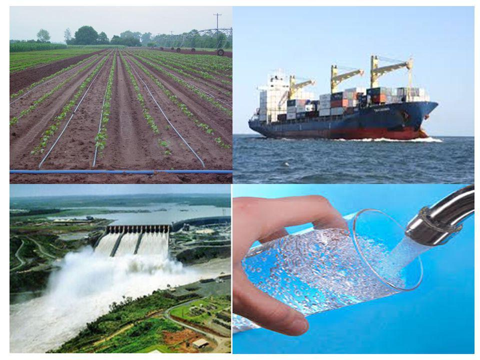 Em países ricos, cerca de 80% da água consumida é utilizada na agricultura, estima- se que para produzir alimentos, é necessário cerca de 70% mais água do que o utilizado em atividades domésticas.