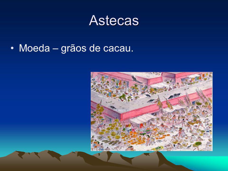 Astecas Moeda – grãos de cacau.