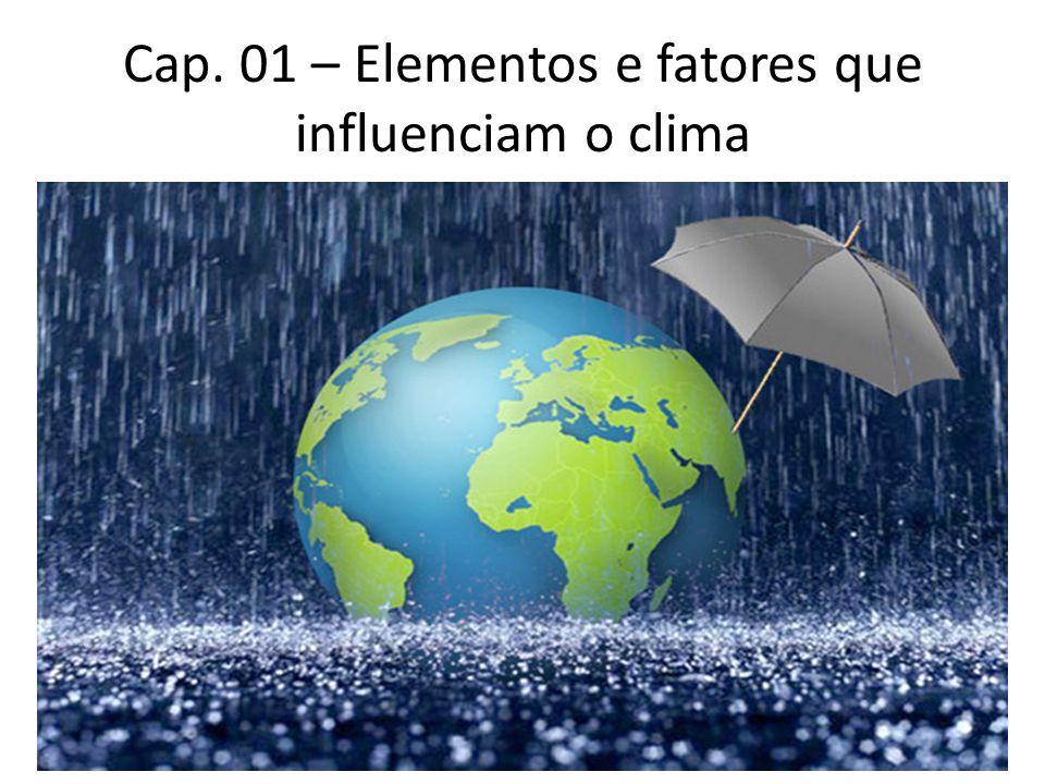 Cap. 01 – Elementos e fatores que influenciam o clima