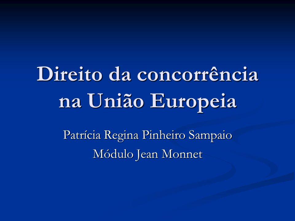 Direito da concorrência na União Europeia Patrícia Regina Pinheiro Sampaio Módulo Jean Monnet