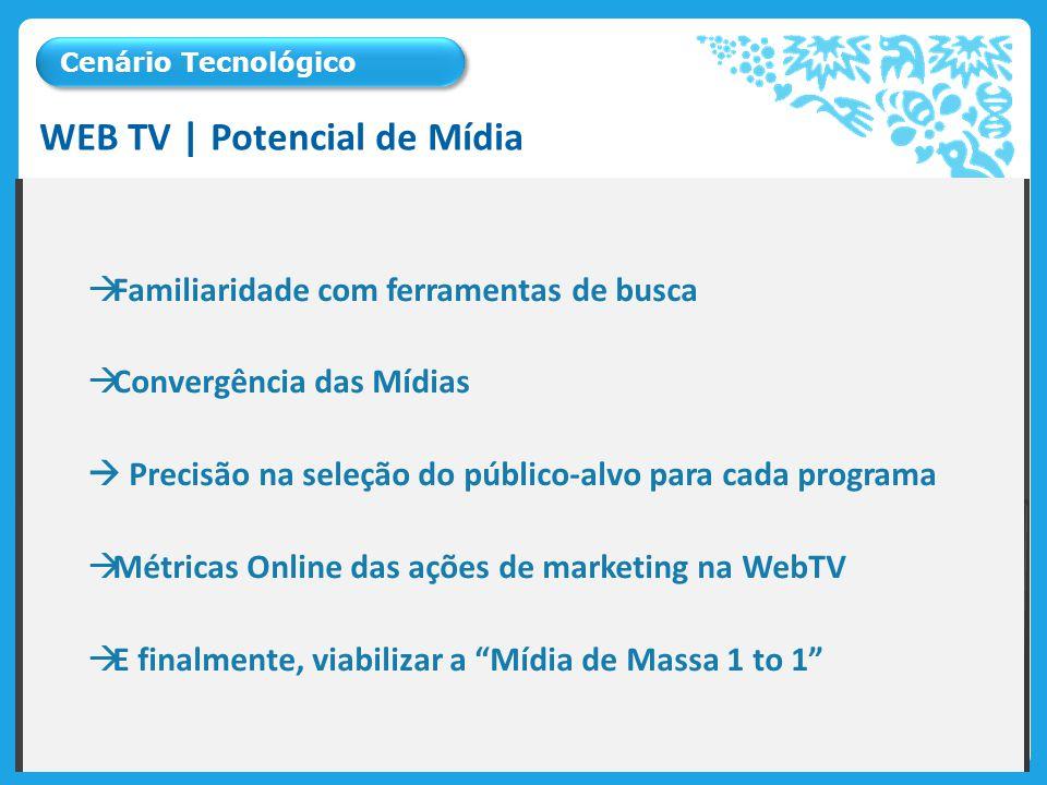 A Web TV aparece no cenário tecnológico como ferramenta que consolida a internet na mídia mais presente nas residências, a Televisão.