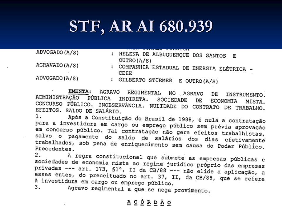 STF, AR AI 680.939