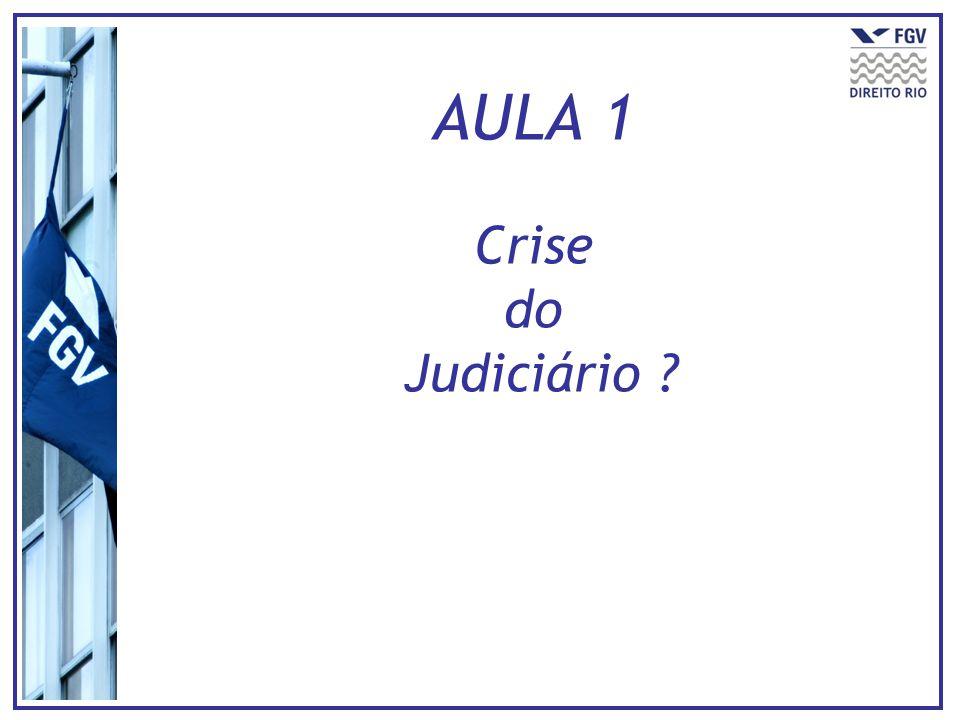 AULA 1 Crise do Judiciário ?