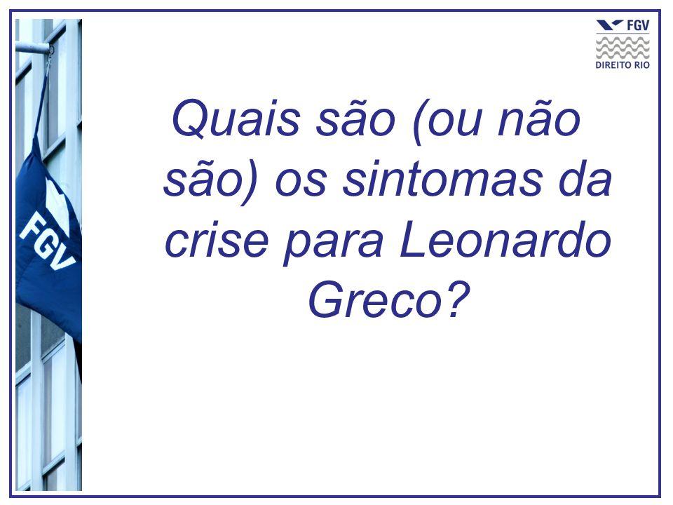 Quais são (ou não são) os sintomas da crise para Leonardo Greco?
